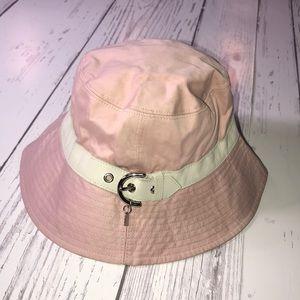 Pink & Beige Coach bucket hat